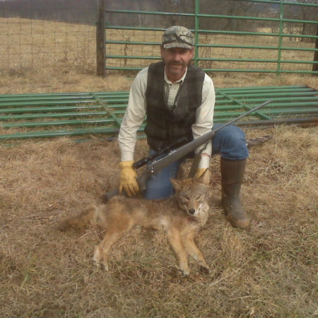 Coyote taken with Accuflite Arms RT100 6.5x284; 325 yards
